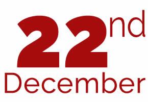 22nd of December