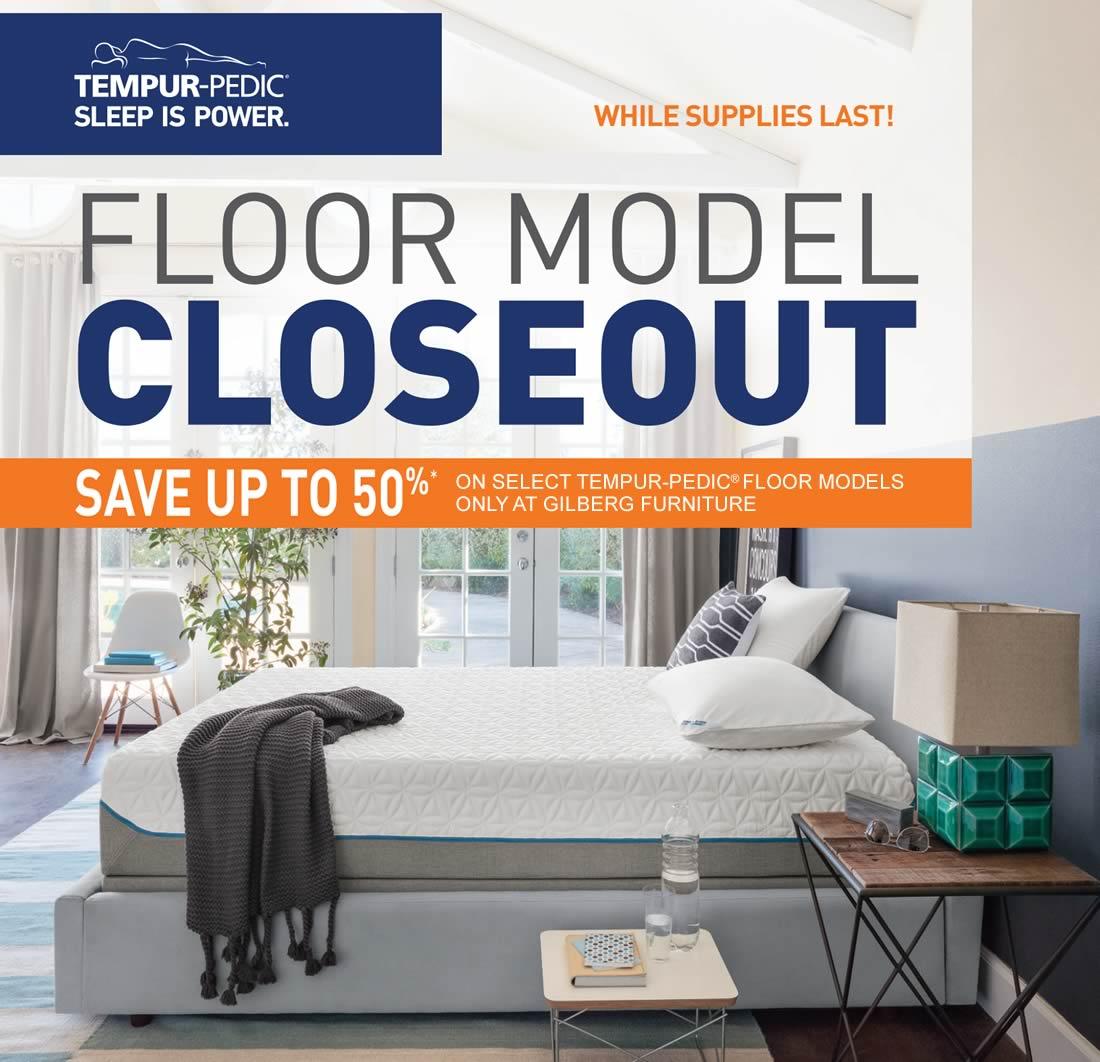TempurPedic Floor Model Closeout
