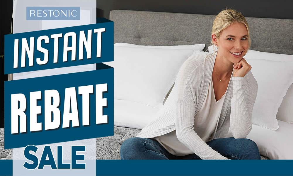 Restonic Instant Rebate Sale