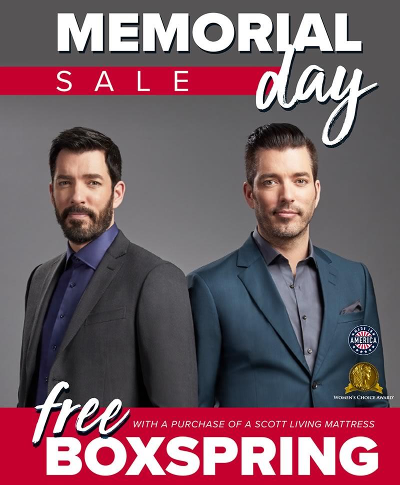 Scott Living by Restonic Memorial Day Mattress Sale