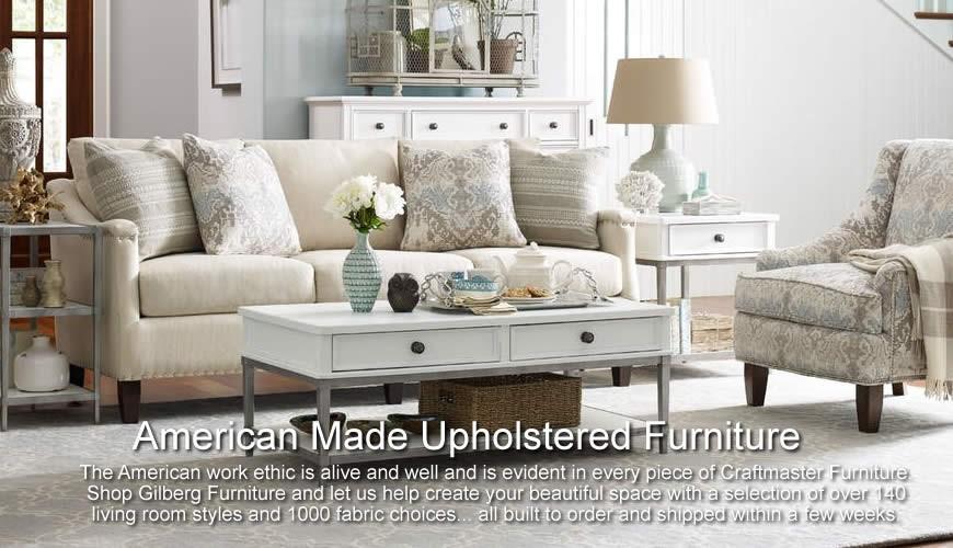 Custom made upholstery at Gilberg Furniture